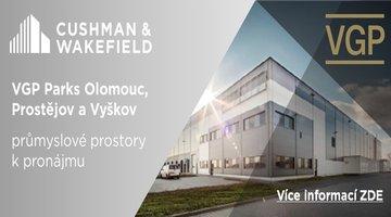 Pronájem skladů VGP Park Ostrava, Olomouc, Prostejova, Vyskov.